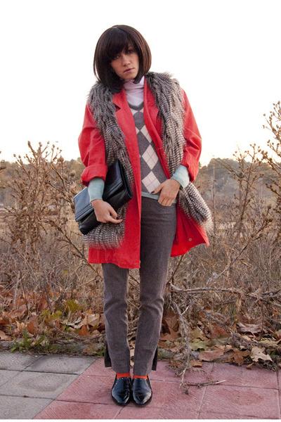 Gap sweater - gianfranco ferre shoes - vintage blazer