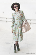 lime green Ropa Dibu dress - peach Misako bag - eggshell Claires glasses