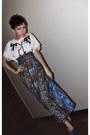 Blue-handmade-skirt