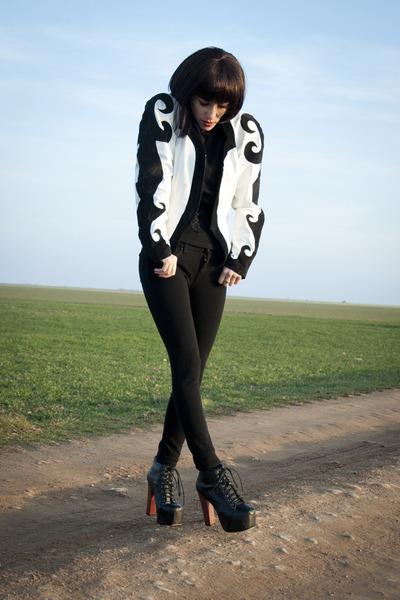 black vintage jacket