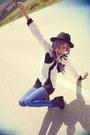 Blue-daddyz-leggings-white-romwe-shirt-black-oasap-shorts