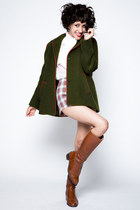 dark green wool vintage coat