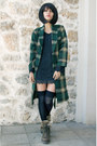 Panama-jack-boots-fox-house-dress-plaid-robe-vintage-coat