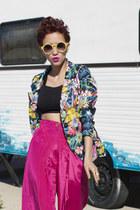 Thallo ring - AX Paris blazer - Chicwish sunglasses - vintage pants
