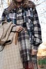 Black-timberland-boots-black-springfield-blouse-beige-vintage-skirt