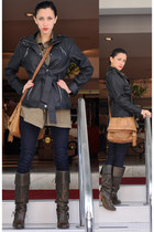 jou jou jacket - Militar Uniform blouse - Guess jeans - Kenneth Cole boots - vin