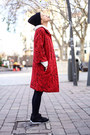 Black-nowistyle-dress-red-kling-coat-black-shana-sneakers