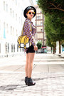Navy-amelie-shoes-violet-romwe-shirt-light-orange-jump-from-paper-bag