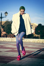 Hot-pink-asos-shoes-navy-now-i-style-dress-ivory-nifty-thrifty-coat