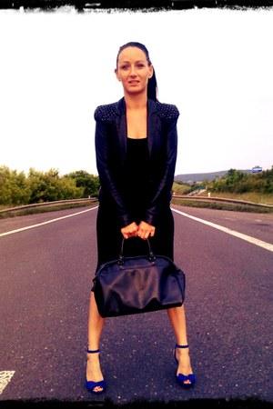 asos blazer - vintage grandmom bag - asos bodysuit - H&M heels