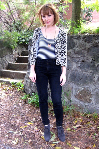 bardot - Otto jeans - Nine West boots - Limedrop necklace -
