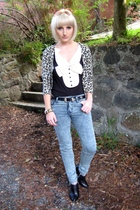 black tuxedo style coo ca choo blouse - black buckle Michael Kors boots