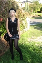 Night Side Down dress - cotton on top - tights - from Ebay hat - rubi shoes - Vi