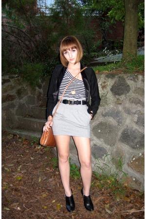 top - lifewithbird skirt - Dangerfield jacket - Phrase & Fable - Limedrop neckla