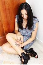 blue pull&bear dress - black ebayed shoes