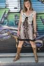 Boots-animal-print-dress-vest