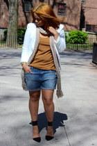 blue Zara jeans - white white Forever 21 blazer