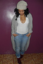 heather gray shawl American Apparel cardigan