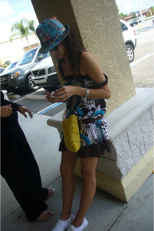 MNG dress - belt - shoes - hat