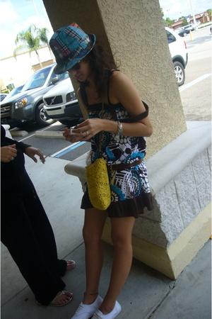 MNG dress - belt - shoes - hat