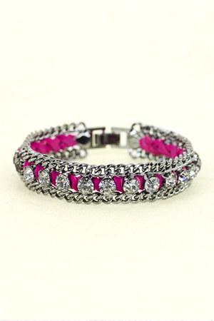 suede chain AMY O bracelet