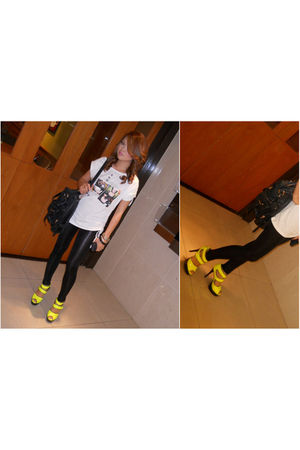 black Charles & Keith - gold Marni shoes