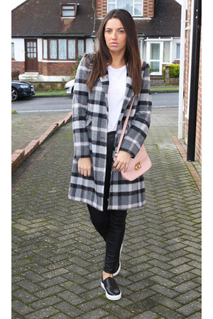 Debenhams coat - Bertie shoes - Forever 21 bag - Topshop pants