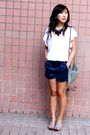 White-korean-brand-inside-t-shirt-blue-star-mimi-shorts-gray-taiwanese-bra
