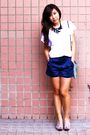 White-korean-brand-inside-t-shirt-blue-star-mimi-shorts-silver-taiwanese-b