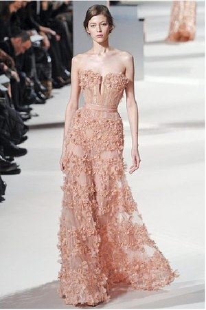 peach Elie Saab dress