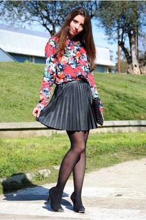 suiteblanco blouse - Stradivarius skirt - suiteblanco heels