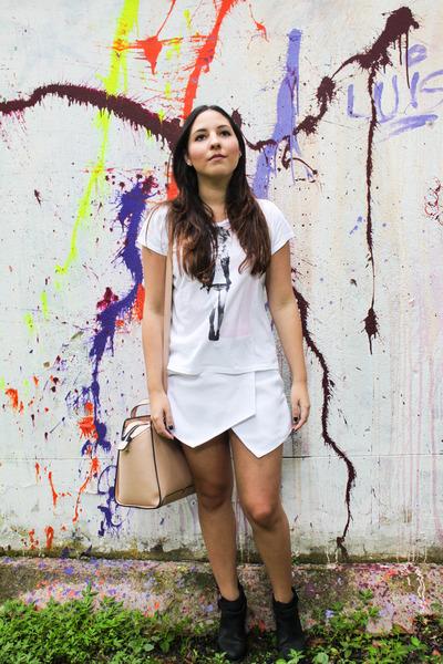 American Rag boots - Mango shirt - Parfois bag - Iconicas skirt