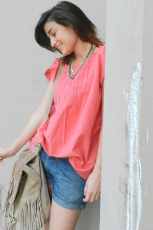 dark khaki Calletanas bag - hot pink Ana Carolina t-shirt