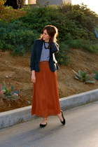 burnt orange Forever 21 skirt - dark gray Forever 21 blazer