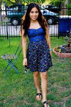 blue Derrick Heart dress - black Classified shoes