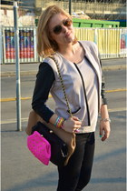 Suce bag - H&M jacket - round Sal y Limon bracelet