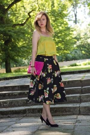 second hand skirt - pink Valentino bag - Mohito heels