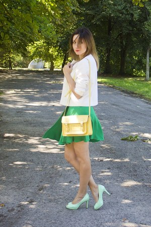 second hand jacket - house bag - second hand skirt