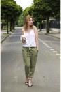 Cubus-bag-h-m-bra-new-yorker-top-deichmann-heels-military-bershka-pants