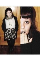 black jacket - neutral blouse