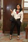Pants-belt-shoes-top-purse-accessories