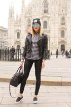 black Zara jacket - black Calzedonia leggings - black Michael Kors bag