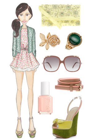 Topshop dress - Zara jacket - asos bag - Chloe sunglasses