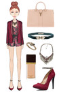 Brick-red-tuxedo-haider-ackermann-blazer-nude-ysl-bag