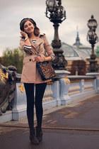 Mango bag - H&M boots - JOVONNISTA coat - Zara top - Zara pants