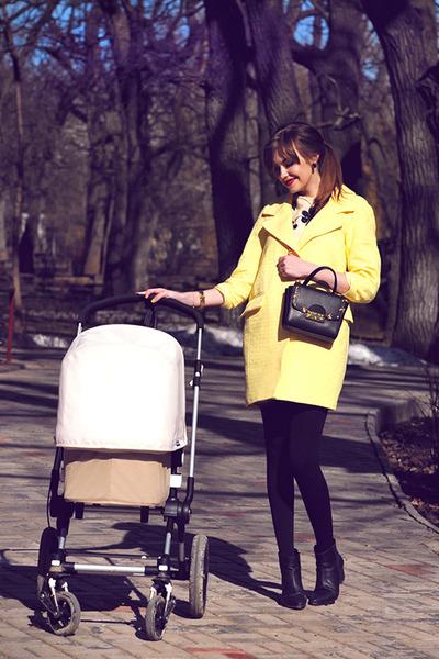 light yellow asos coat - beige THE WHITEPEPPER dress