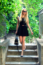 black Zara dress - black Zara bag - black Valentino pumps