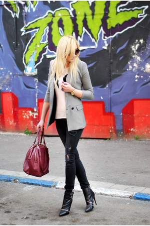 heather gray Mango blazer