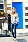 Navy-zara-jeans-off-white-forever-21-hat-white-mango-shirt