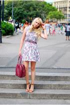 magenta Zara bag - amethyst Oasis dress